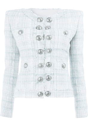 Balmain buttoned tweed jacket - Pink