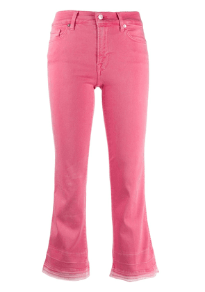 7 For All Mankind cropped bootcut jeans - Pink