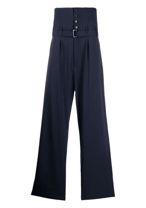 Hed Mayner high waisted trousers - Blue