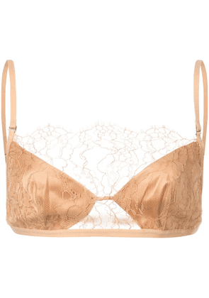 Dion Lee trace lace bra - Neutrals