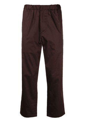 Oamc ruched waist cropped trousers - Brown
