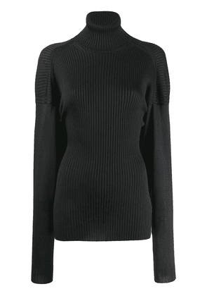 Bottega Veneta turtleneck ribbed top - Black
