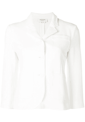 Thom Browne Double-Knit Tech Sport Coat - White