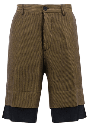 Ann Demeulemeester striped tailored shorts - Gold