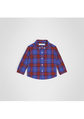 Burberry Childrens Button-down Collar Check Cotton Shirt, Size: 3Y