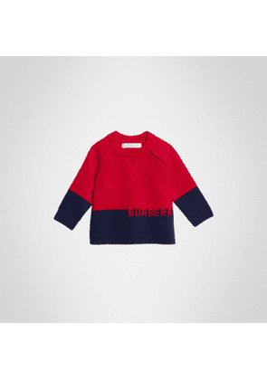 Burberry Childrens Logo Intarsia Cashmere Sweater, Size: 3Y