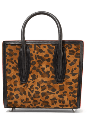 Christian Louboutin - Paloma Mini Leopard-print Suede, Leather And Canvas And Tote - Leopard print