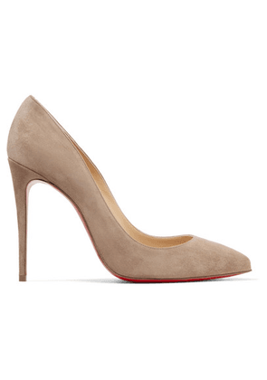 Christian Louboutin - Pigalle Follies 100 Suede Pumps - Mushroom