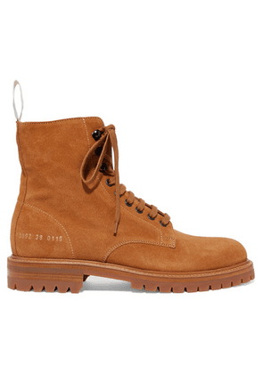 Common Projects - Combat Suede Ankle Boots - Tan