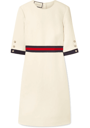 Gucci - Grosgrain-trimmed Wool And Silk-blend Cady Mini Dress - Ivory