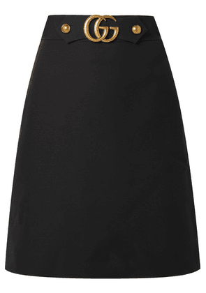 Gucci - Embellished Wool And Silk-blend Skirt - Black