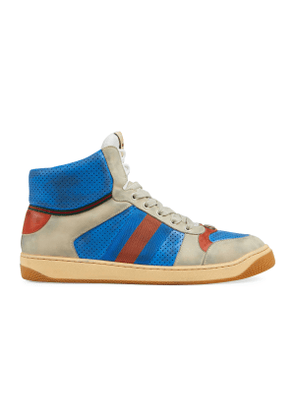 4096fcd6f Screener Hike Leather High Top Sneakers | MILANSTYLE.COM