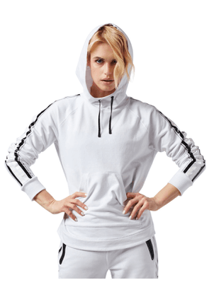 Sporty Striped Active Hoodie