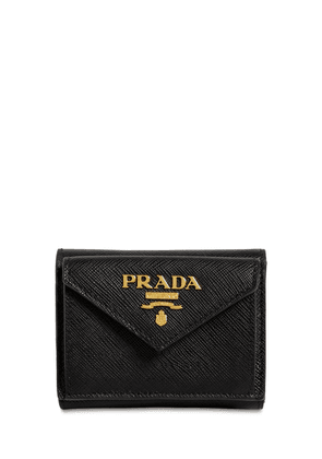 Compact Saffiano Leather Envelope Wallet