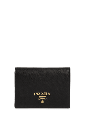 Compact Saffiano Leather Wallet