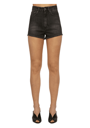 Washed Cotton Denim Shorts