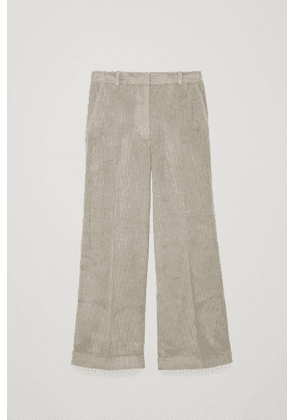 RELAXED TURN-UP CORDUROY TROUSERS