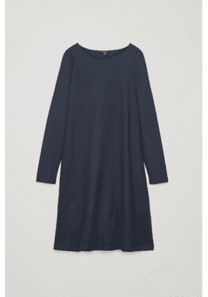 CONTRAST-FRONT JERSEY DRESS