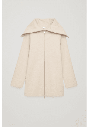 ZIP-UP JACKET WITH LARGE COLLAR