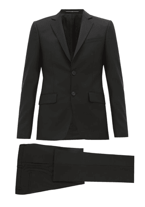 Givenchy - Single Breasted Wool Blend Suit - Mens - Black
