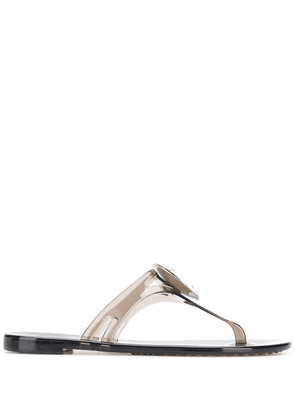 Casadei crystal embellished slides - Grey