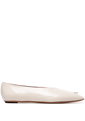 Marni Dancer ring embellished pumps - White