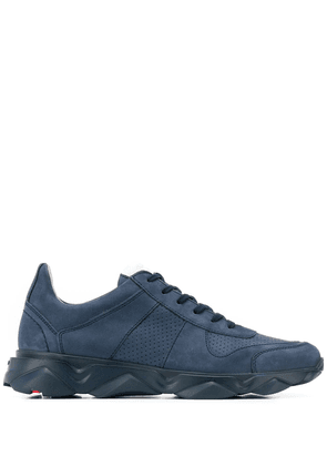 Lloyd perforated lace-up sneakers - Blue
