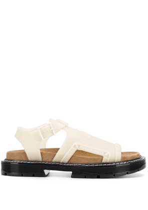Kenzo logo open-toe sandals - White