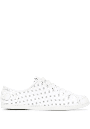 Camper perforated lace-up sneakers - White