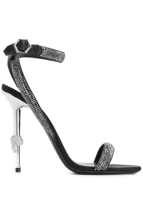 Philipp Plein Crystal high-heeled sandals - Black