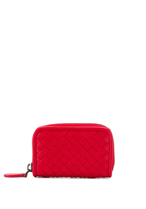 Bottega Veneta woven wallet - Red