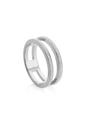 Monica Vinader Skinny Double Band Diamond ring - Silver