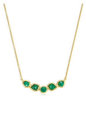 Monica Vinader GP Siren Mini Nugget Cluster Green Onyx necklace - Gold