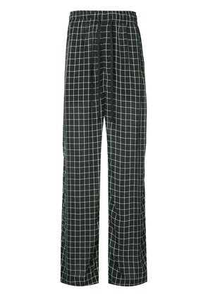 Ex Infinitas Off The Grid checked drawstring trousers - Black