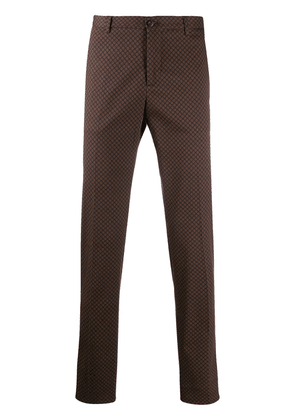 Etro printed chinos - Brown