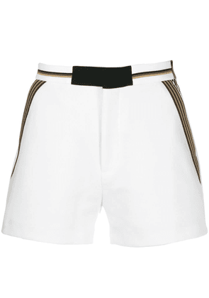 Fendi checked pocket shorts - White