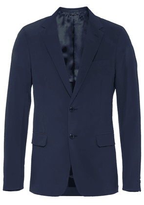 Prada technical poplin jacket - Blue
