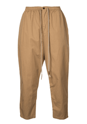 The Viridi-Anne tapered sweatpants - Brown