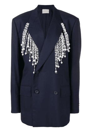 Christopher Kane pearl tailored jacket - Blue