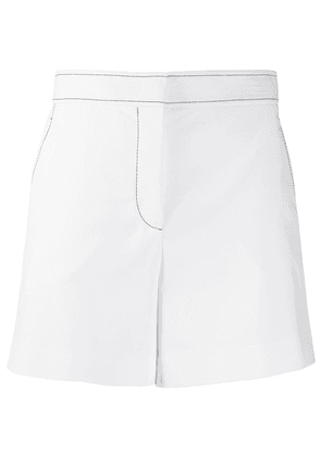 Emilio Pucci topstitched high-waisted shorts - White