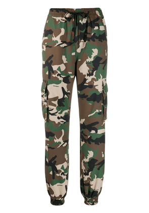 Danielle Guizio military style camouflage trousers - Green
