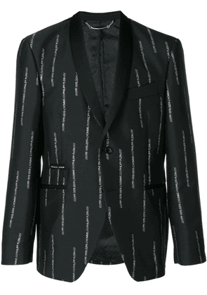 Philipp Plein All over PP jacquard blazer - Black