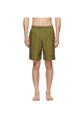 Givenchy Khaki Logo Swim Shorts