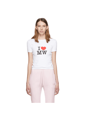 Vetements White Fitted T-Shirt