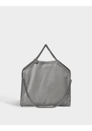 3 Chain Shaggy Deer Falabella Bag in Light Grey Synthetic Material