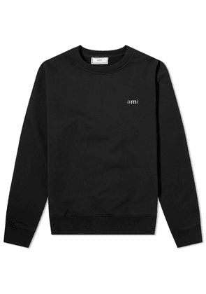 AMI Tricolour Logo Crew Sweat Black