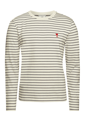 ami Striped Cotton Top
