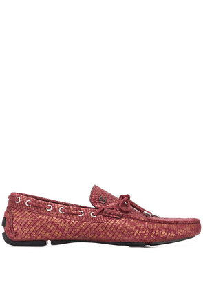Just Cavalli snake effect loafers - Pink