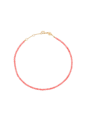 Anni Lu stone beaded anklet - Pink