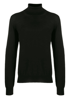 Maison Margiela roll-neck fitted sweater - Black